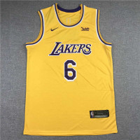 *LeBron James Los Angeles Lakers 2021-22 Yellow Jersey