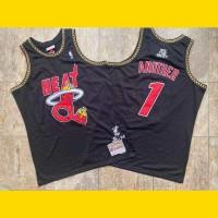 *DJ Khaled x BR Remix x Miami Heat Limited Edition Mitchell and Ness Jersey - Super AAA