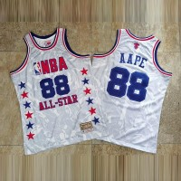 *AAPE  X Mitchell & Ness 1988 All Star White Limited Edition Jersey - Super AAA