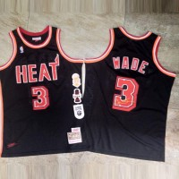*Dwyane Wade Legacy Mitchell & Ness Miami Heat Special Edition Jersey - Super AAA