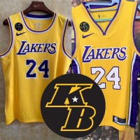 *KB Memorial Patch Kobe Bryant Los Angeles Lakers Jerseys** Heat Applied Versions