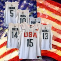 2016 USA Basketball White Jerseys