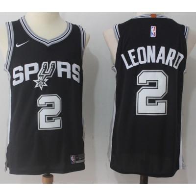 Kawhi Leonard San Antonio Spurs Black 2017-18 NBA X Nike Swingman Jersey