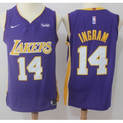 Brandon Ingram Los Angeles Lakers Purple 2017-18 NBA X Nike Swingman Jersey