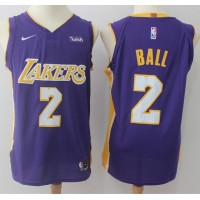 Lonzo Ball Los Angeles Lakers Purple 2017-18 NBA X Nike Swingman Jersey