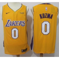 Kyle Kuzma Los Angeles Lakers Yellow 2017-18 NBA X Nike Swingman Jersey