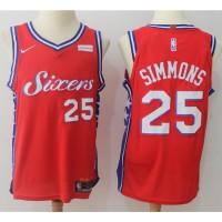 Ben Simmons Philadelphia 76ers Red 2017-18 NBA X Nike Swingman Jersey