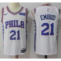 Joel Embiid Philadelphia 76ers White 2017-18 NBA X Nike Swingman Jersey