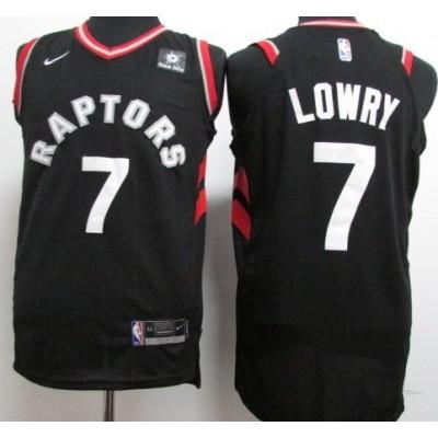 Kyle Lowry Toronto Raptors Black 2017-18 NBA X Nike Swingman Jersey