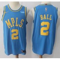 Lonzo Ball MPLS Los Angeles Lakers 2017-18 NBA X Nike Swingman Jersey
