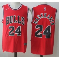 Lauri Markkanen Chicago Bulls Red 2017-18 NBA X Nike Swingman Jersey