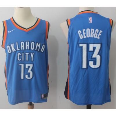 Paul George Oklahoma City Thunder Blue 2017-18 NBA X Nike Swingman Jersey
