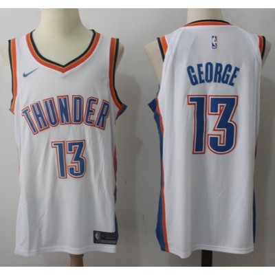 Paul George Oklahoma City Thunder White 2017-18 NBA X Nike Swingman Jersey