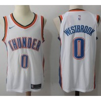 Russell Westbrook Oklahoma City Thunder White 2017-18 NBA X Nike Swingman Jersey