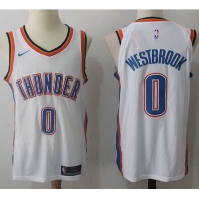 Russell Westbrook Oklahoma City Thunder White 2017-18 NBA X Nike Swingman Jersey