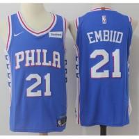 Joel Embiid Philadelphia 76ers Blue 2017-18 NBA X Nike Swingman Jersey