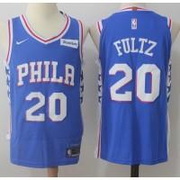 Markelle Fultz Philadelphia 76ers Blue 2017-18 NBA X Nike Swingman Jersey