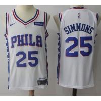 Ben Simmons Philadelphia 76ers White 2017-18 NBA X Nike Swingman Jersey