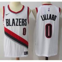 Damian Lillard Portland Trailblazers White 2017-18 NBA X Nike Swingman Jersey