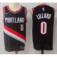Damian Lillard Portland Trailblazers Black 2017-18 NBA X Nike Swingman Jersey