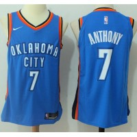 Carmelo Anthony Oklahoma City Thunder Blue 2017-18 NBA X Nike Swingman Jersey