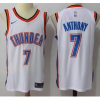 Carmelo Anthony Oklahoma City Thunder White 2017-18 NBA X Nike Swingman Jersey