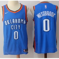 Russell Westbrook Oklahoma City Thunder Blue 2017-18 NBA X Nike Swingman Jersey