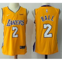 Lonzo Ball Los Angeles Lakers Yellow 2017-18 NBA X Nike Swingman Jersey