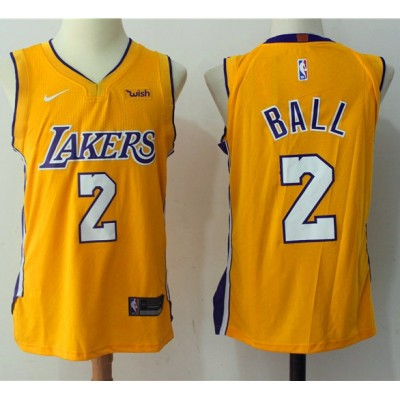 Lonzo Ball Los Angeles Lakers Yellow 2017-18 NBA X Nike Swingman Jersey