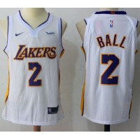 Lonzo Ball Los Angeles Lakers White 2017-18 NBA X Nike Swingman Jersey