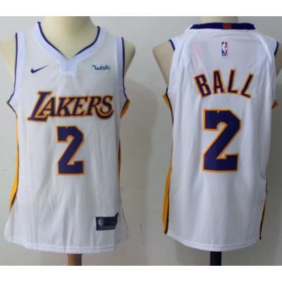 Lonzo Ball Los Angeles Lakers White 2017-18 NBA X Nike Swingman Jersey