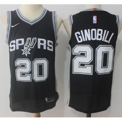 Manu Ginobili San Antonio Spurs Black 2017-18 NBA X Nike Swingman Jersey
