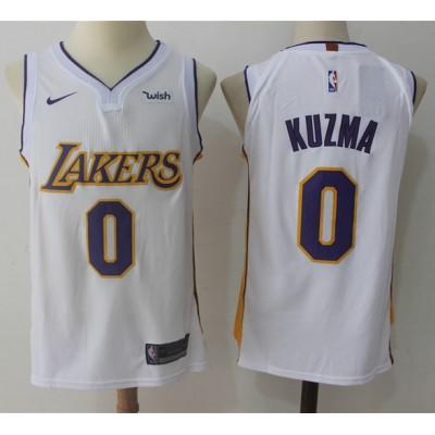 Kyle Kuzma Los Angeles Lakers White 2017-18 NBA X Nike Swingman Jersey