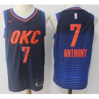 Carmelo Anthony Oklahoma City Thunder Alternate Blue 2017-18 NBA X Nike Swingman Jersey