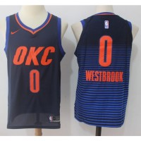 Russell Westbrook Oklahoma City Thunder Alternate Blue 2017-18 NBA X Nike Swingman Jersey