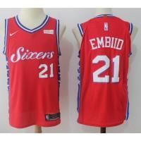 Joel Embiid Philadelphia 76ers Red 2017-18 NBA X Nike Swingman Jersey
