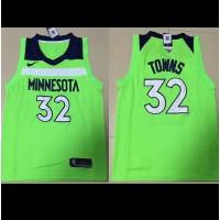 Karl-Anthony Towns Minnesota Timberwolves Fluorescent Green 2017-18 NBA X Nike Swingman Jersey