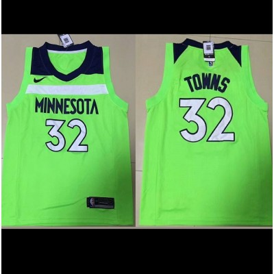 Karl-Anthony Towns Minnesota Timberwolves Fluorescent Green 2017-18 NBA X Nike Swingman Jersey