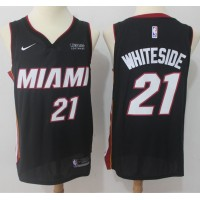 Hassan Whiteside Miami Heat Black 2017-18 NBA X Nike Swingman Jersey