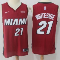 Hassan Whiteside Miami Heat Red 2017-18 NBA X Nike Swingman Jersey