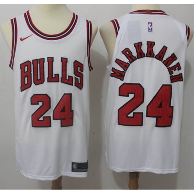 Lauri Markkanen Chicago Bulls White 2017-18 NBA X Nike Swingman Jersey