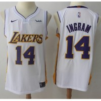 Brandon Ingram Los Angeles Lakers White 2017-18 NBA X Nike Swingman Jersey