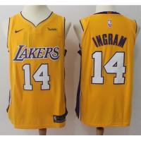 Brandon Ingram Los Angeles Lakers Yellow 2017-18 NBA X Nike Swingman Jersey