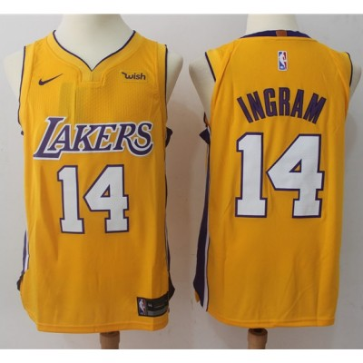 Brandon Ingram Los Angeles Lakers Yellow 2017-18 NBA X Nike Swingman Jersey