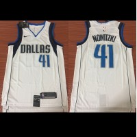 Dirk Nowitzki Dallas Mavericks White 2017-18 NBA X Nike Swingman Jersey