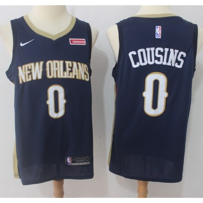 DeMarcus Cousins New Orleans Pelicans Blue 2017-18 NBA X Nike Swingman Jersey