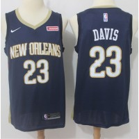 Anthony Davis New Orleans Pelicans Blue 2017-18 NBA X Nike Swingman Jersey