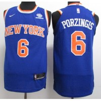 Kristaps Porziņģis New York Knicks Blue 2017-18 NBA X Nike Swingman Jersey