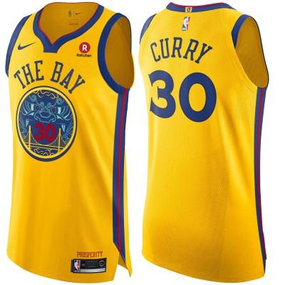 Stephen Curry Golden State Warriors City Edition 2017-18 NBA X Nike Swingman Jersey