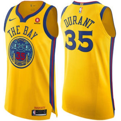 Kevin Durant Golden State Warriors City Edition 2017-18 NBA X Nike Swingman Jersey